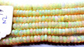 #NZ Top Quality Roundel Plain Beads Necklace Ethiopian Opal