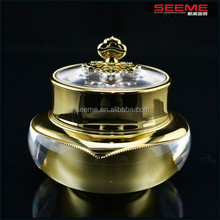 royal shaped cosmetic packaging acrylic bottle and jar for skin care crown shape jar