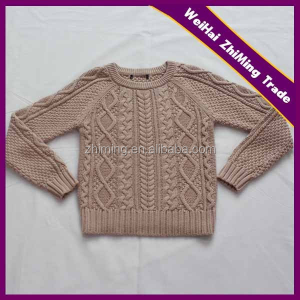 New Design Children Cable Knit Pullover Sweater