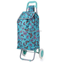 Fashionable supermarket shopping trolley/trolley foldable shopping bag