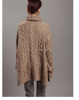 GZY Latest design fashion and high quality knitting patterns bat sleeve sweater