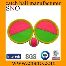 Wholesale funny sports toys led flash sucker velcro catch ball