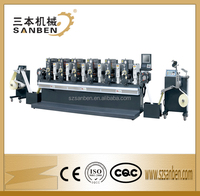 SBL-280 High speed automatic rotary intermittent letterpress sticker label printing machine( 6 or 8 colors )