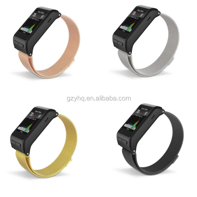 Magnetic Milanese Loop Stainless Band For Garmin vivoactive HR GPS Smart Watch Strap