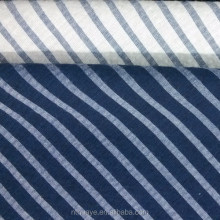 yarn dyed poly cotton navy and white stripe clothing seersucker fabric