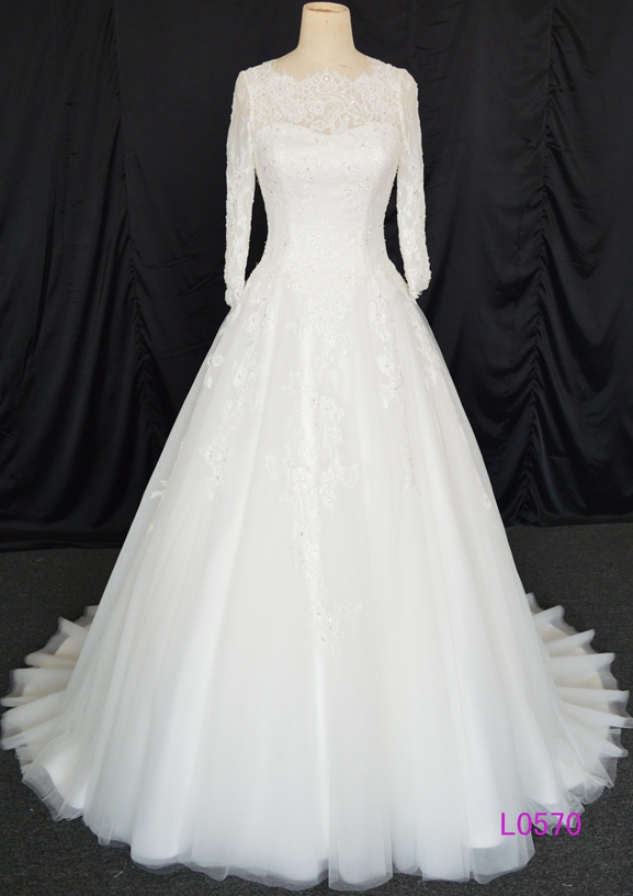 Elegant wedding gowns with sleeves the for Elegant wedding dresses with long sleeves
