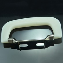 Foshan Minsheng handle parts accessories nice white plastic pull luggage handle