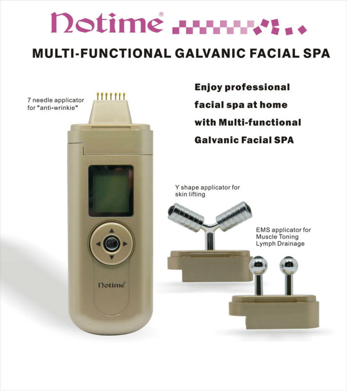 Notime Galvanic Ion Microcurrent Face Lifting Anti-aging Rejuvenation Beauty Massager
