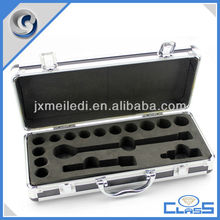 MLDGJ508 Latest Custom Padded Interior Aluminium Tool Device Carry Case Socket Wrench Set