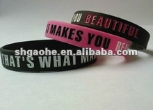 wholesale silicone band with customized logo . fashion 202 mm 1 inch rubber silicone wristbands