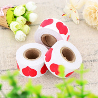 Body Stickers 3-WAY Red Heart Shape Sticker for Decorating Crafting and DIY 100 PCS 1000 PCS