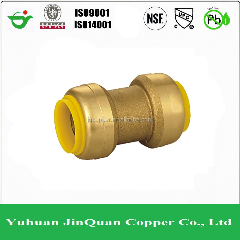 Push Fit Fittings, lead free brass push fit straight coupling for ppr pipe