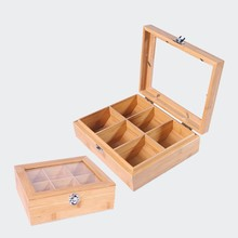 Glass Top Wooden Tea Box Tea Packing Box