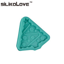 Easy To Demoulding Hot Sell In US Christmas Tree Design Silicone Cake Pop Mold Tray