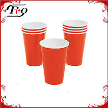 orange paper cup party tableware
