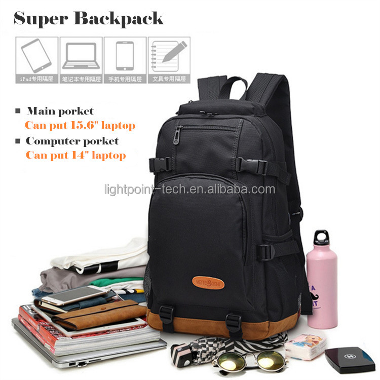 Anti theft large capacity multi function waterproof mens backpack bag school bag laptop bag