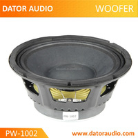 Credit manufacturer professional car audio speakers dj woofer 10'' pa woofer 10 inch 200w