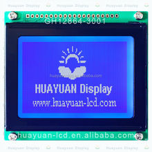 128x64 COG Module with fixing hole, 128x64 Negative FSTN With Back Light, 128*64 Graphic white Led backlight Module