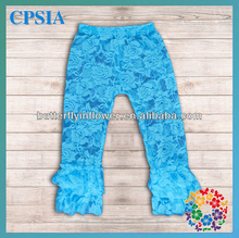 Fashion Newest baby leggings pretty baby lace pants with ruffle wholesale toddler pants