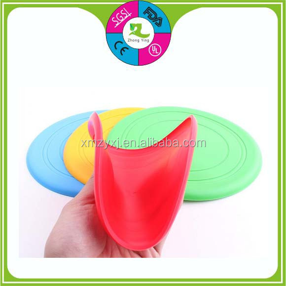 Eco-friendly silicone dog pet chew toys Flying Disc