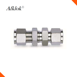 High pressure Stainless Steel 316 Pipe fittings 3mm 4mm 6mm 8mm 10mm OD Double ferrule bulkhead union tube fitting