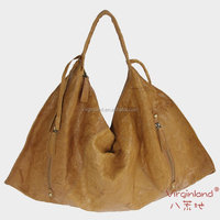 Fashion Brown Designer Mature Lady Leather Bags Wholesale Real Cowhide Leather Handbag