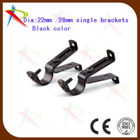 Adjustable curtain accessories drapery pole/rod single brackets/metal wall brackets online selling
