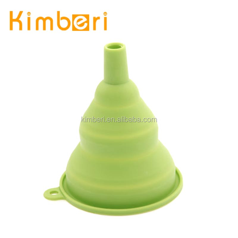 food grade silicone fluid foldable collapsible funnel