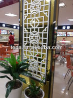 Wood indoor screens partitions for Hotel/House/Restaurant