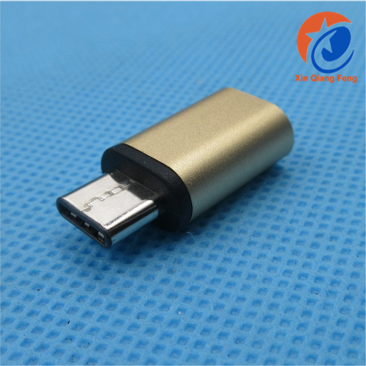 Gold high speed type c to micro usb otg connector otg usb flash drive otg adapter
