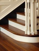 Sliced Americian Black Walnut Engineere Interlocking Solid Wood Flooring