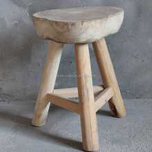 Wooden Craft Nautral Style Round Wooden wedding decoration Stool