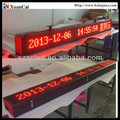 Single side Red color RF wireless communication P10-16x224R outdoor advertising led display screen prices