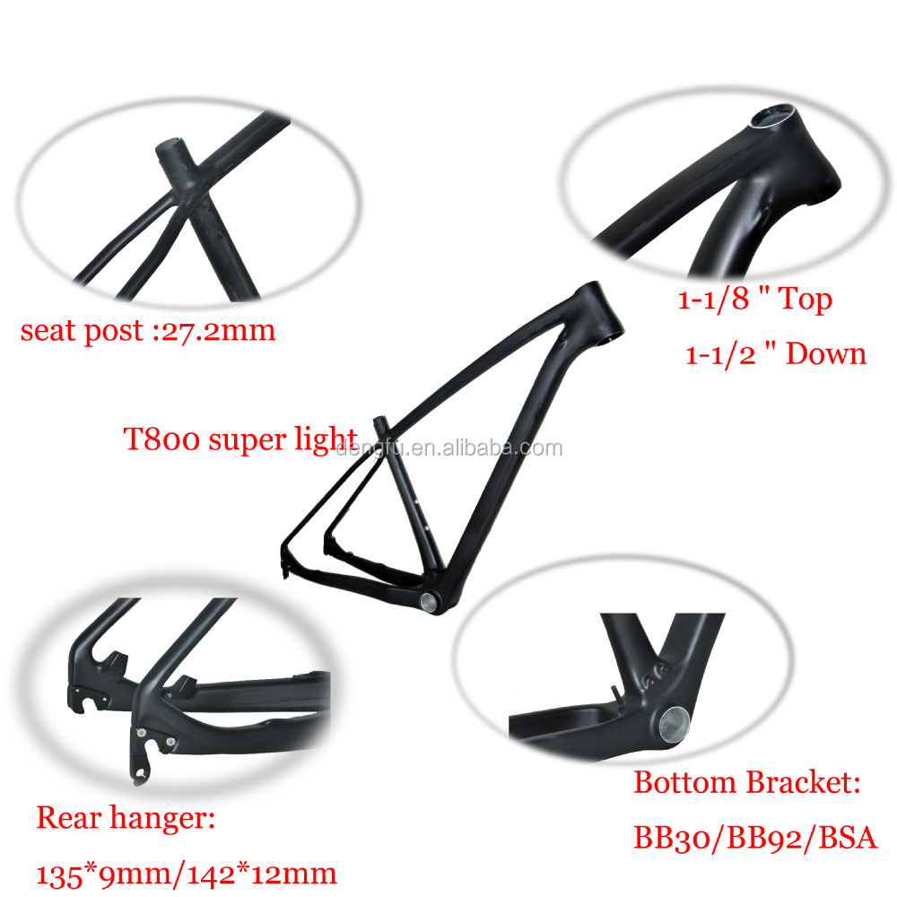 Super light T800 mtb bicycle frame 29er, carbon 29er mtb bike frame , 142*12 thru-axle or 135*9 QR compatible BB92 only 950g!!!!