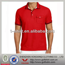 Red color fashion PIMA cotton men's polo T shirts