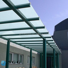 8mm 10mm 12mm translucent tempered glass roofing panels