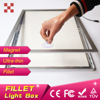 50*70cm aluminum magnetic light box,aluminum menu board,backlit aluminum snap frame