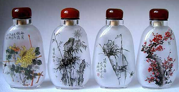 Chinese Inner Painting Snuff Bottle,Inside Painting Glass ...