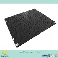 Road mats, mobile plastic ground mat, track mats with 100 tons crane stabilizer pad