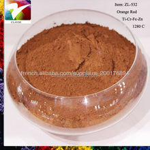Hot sell 1280C Orange Red pigment for concrete, iron oxide pigment, concrete pigment