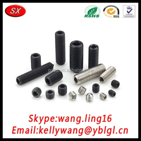 fastener manufacturer stainless steel/ carbon steel spring set screw pass RoHS/ISO certification