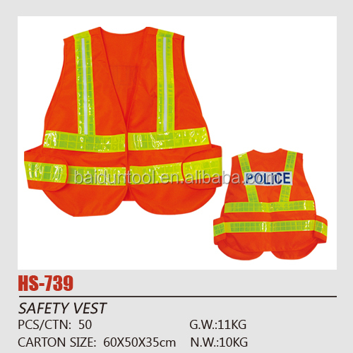 Police traffic reflective safety vest