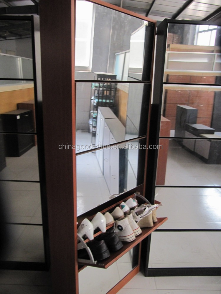 MDF Shoe Cabinet With Mirror