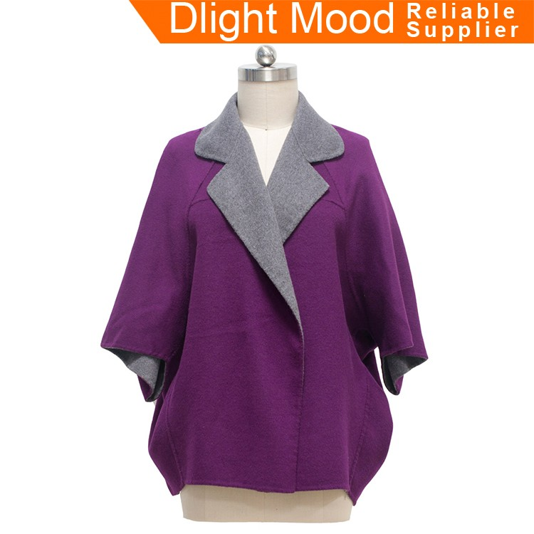 New fashionable woolen clothes,new design lady coat,latest style wool coat