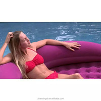 Inflatable air bed swimming pool air mattress float