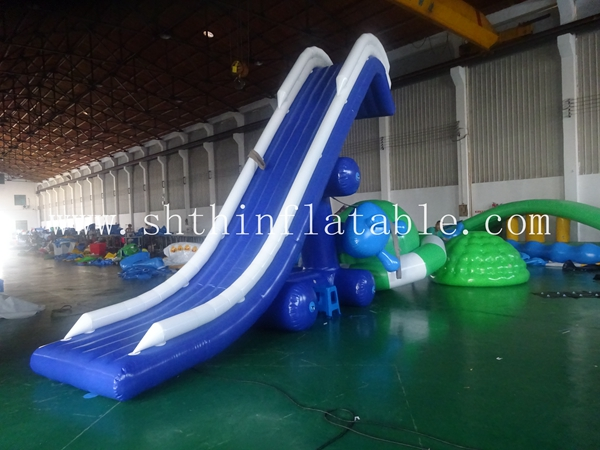 high quality Inflatable floating water slide for boat , giant inflatable yacht slide for sale