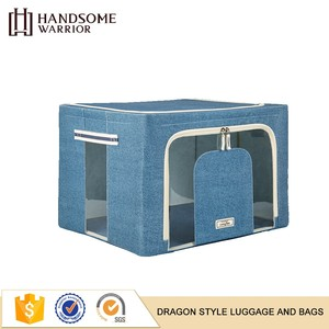 Customized transparent waterproof clear Oxford cloth waterproof non woven folding storage box