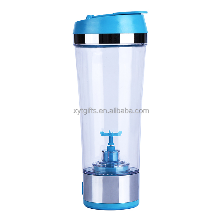 450ml Plastic Electric Protein Shaker with Protein Shaker Vortex Mixer USB Rechargeable Li battery Power