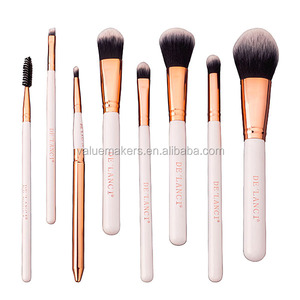 white and golden handle beauty salon equipment,makeup brush set, beauty products
