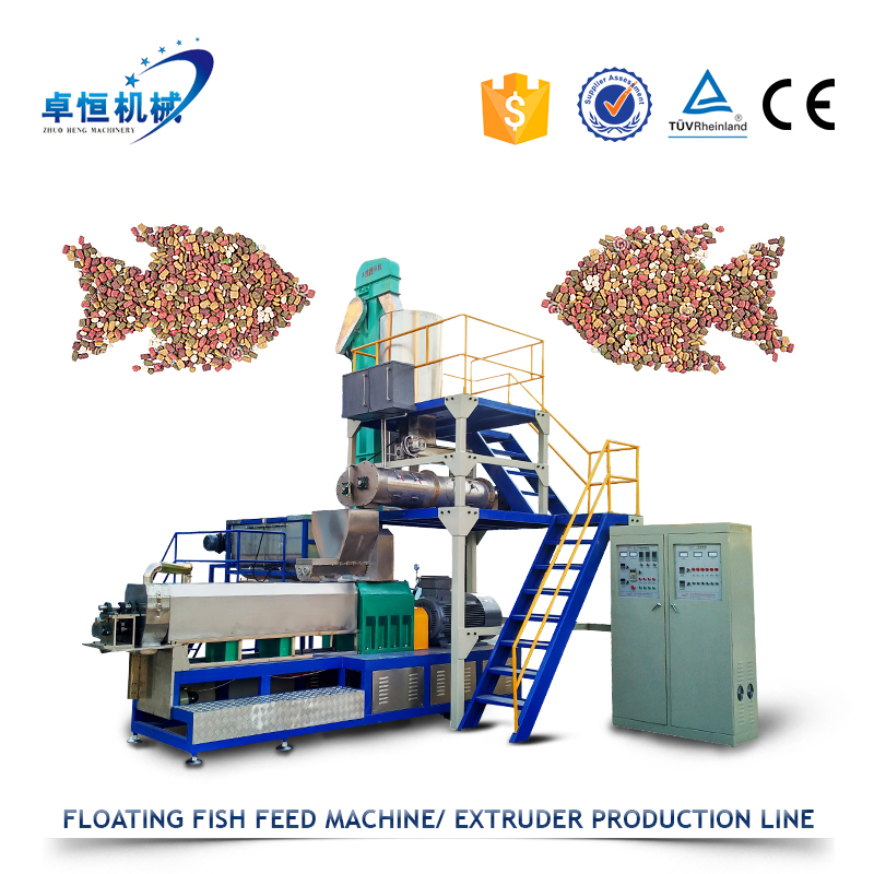 Warm salt water fish feed extruder machine production line